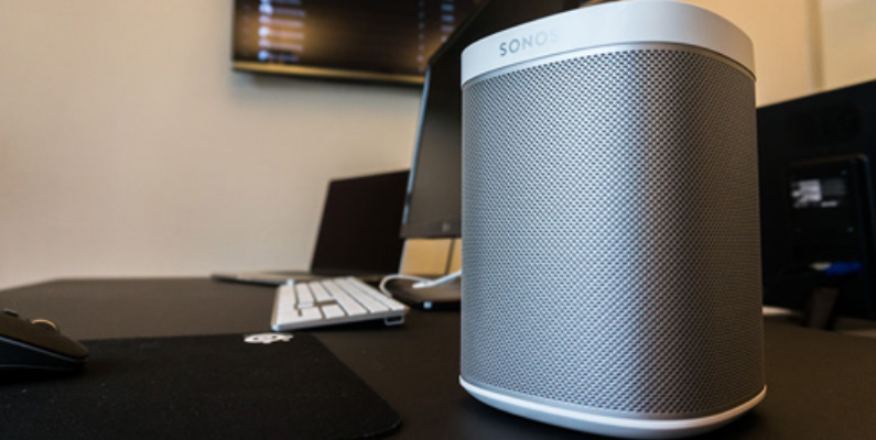 Picture of a Sonos device on shelf
